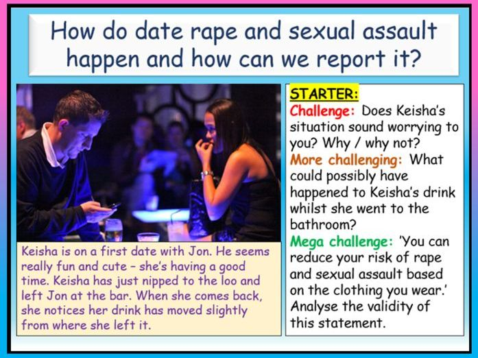 Date Rape / Consent + Sexual Assault PSHE
