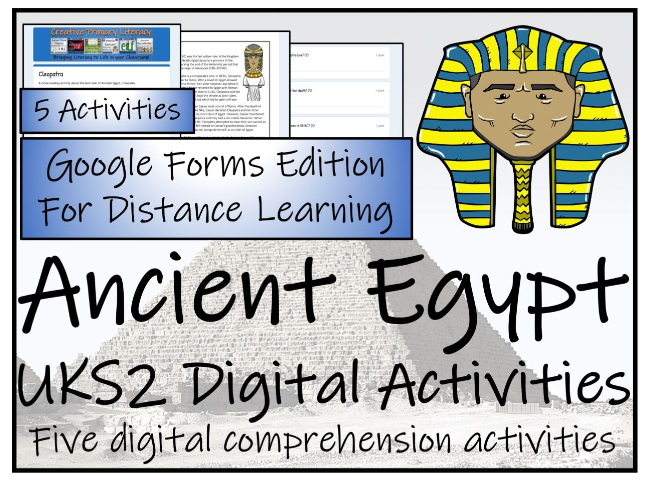 UKS2 Ancient Egypt Reading Comprehension & Distance Learning Bundle