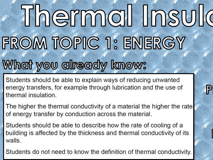 Paper 1 Physics Only PPTs AQA 9-1 GCSE Insulation, Static, Radiation, Fission & Fusion