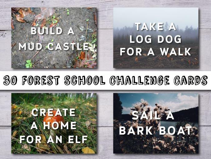 Forest School Challenge Cards