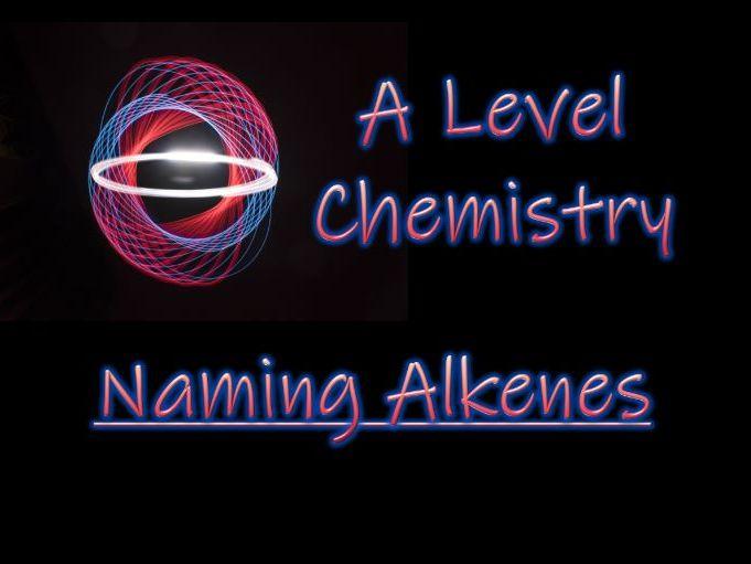 Naming Alkenes - A Level Chemistry