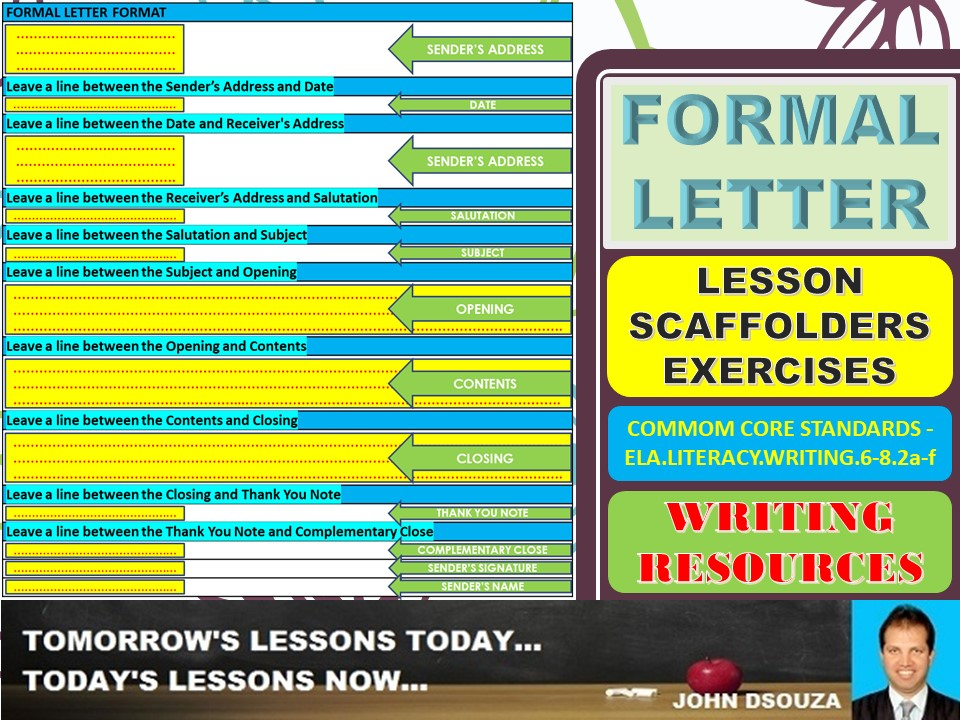 Formal Letter Writing Lesson And Resources By John421969 Teaching