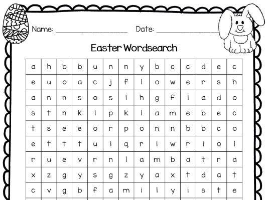 Easter wordsearch (non-religion theme) - KS1 and KS2