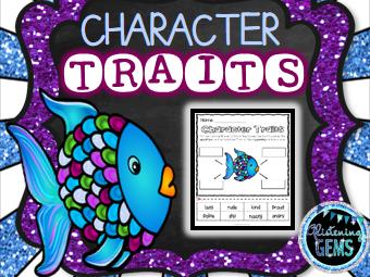 The Rainbow Fish Character Traits - No Prep
