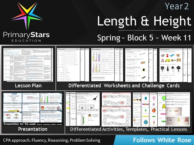 YEAR 2 - Length & height - White Rose - WEEK 11 - Block 5 - Spring- Differentiated Planning