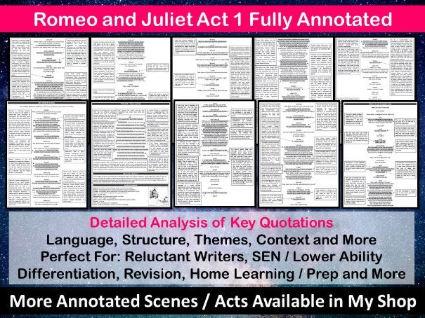 Romeo and Juliet Act 1 Fully Annotated
