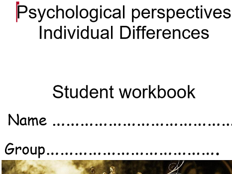 Psychological Perspectives Btec Level 3 treatment workbook