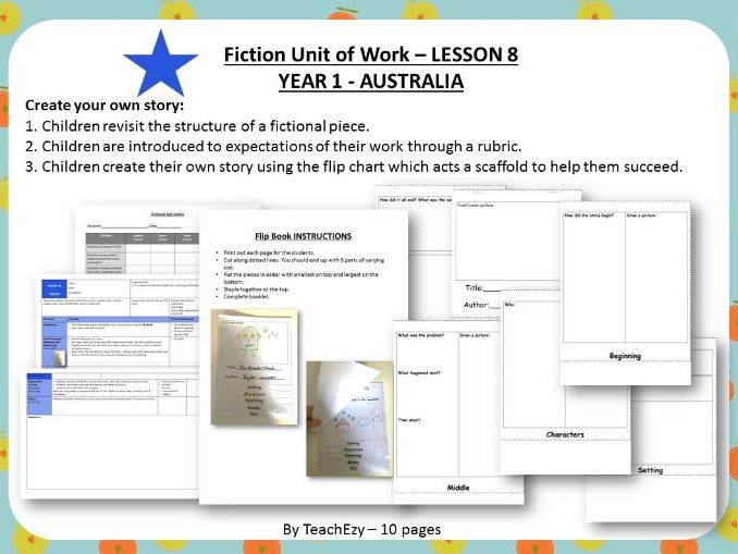 LESSON 8  Create Story - Fiction Year 1 Australian Curriculum
