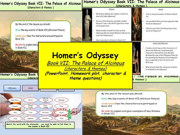 The themes of nature in the odyssey by homer