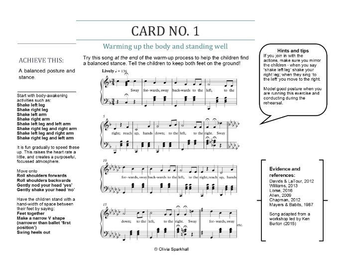 VOCAL WARM-UPS FOR BUSY TEACHERS - A set of five warm-up cards for choirs - DOWNLOADABLE VERSION