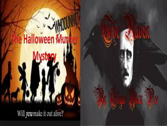 The Halloween Murder Mystery and The Raven by Edgar Allan Poe (with free starters)