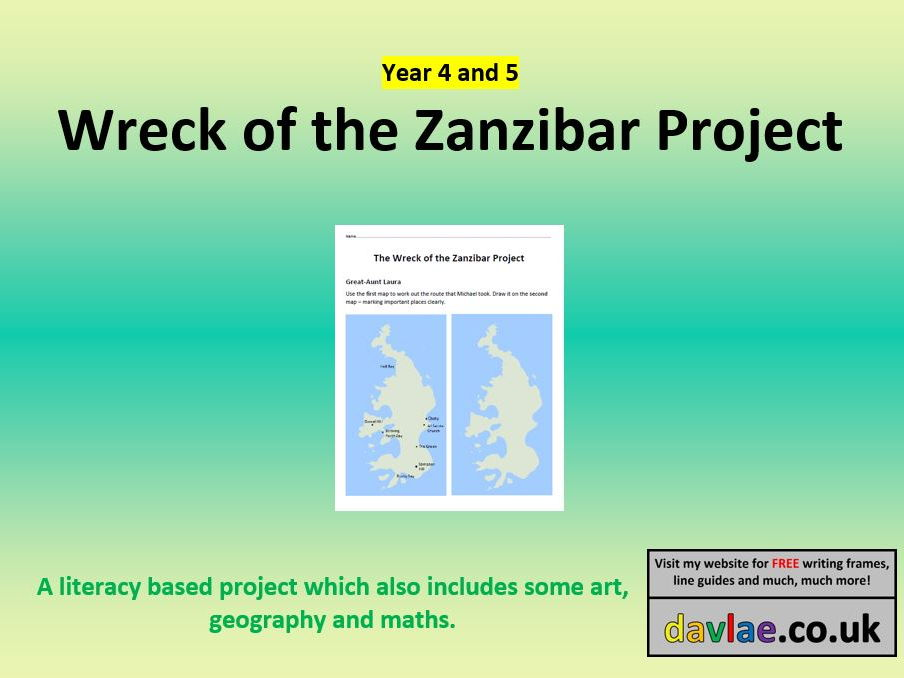 Wreck of the Zanzibar Project for Year 4 and 5 by davlae - Teaching ...