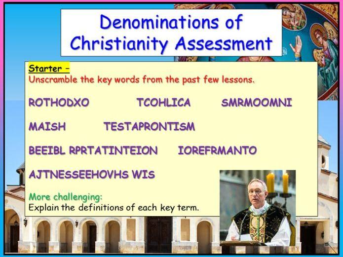 Christian Denominations Assessment