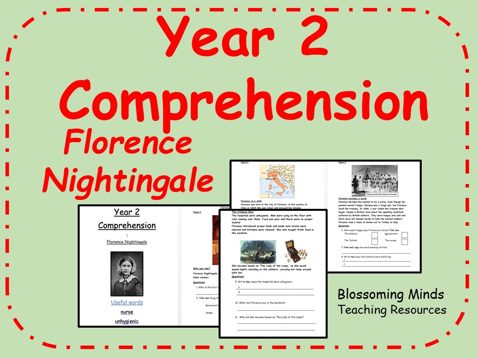 Year 2 SATs style comprehension - Florence Nightingale