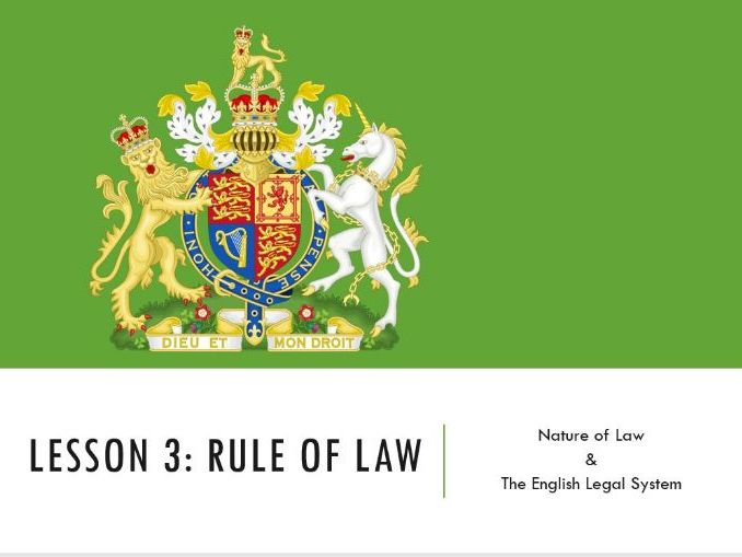 ELS - Rule of Law Lesson