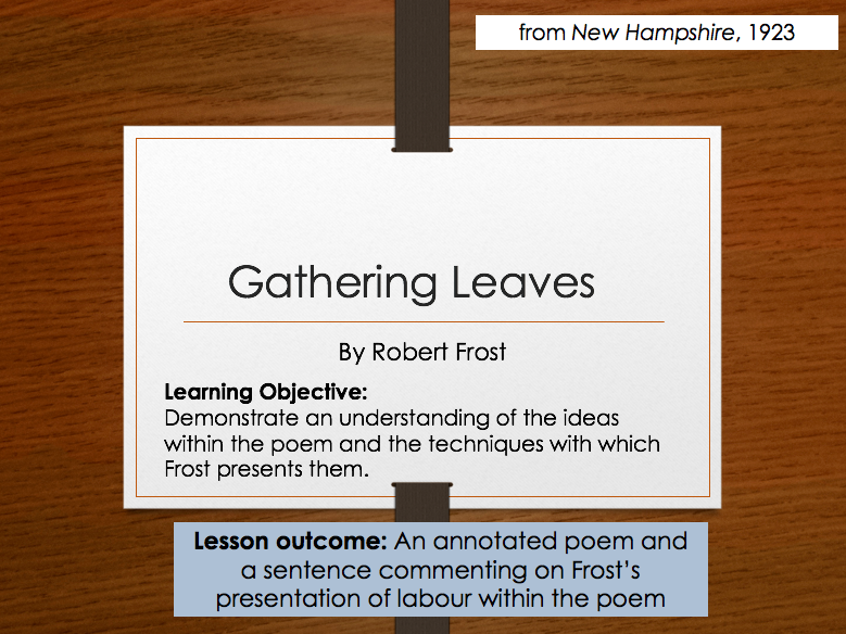 Robert Frost - Gathering Leaves