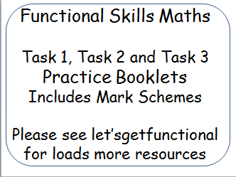 Functional Skills Maths - City and Guilds Exam task booklets