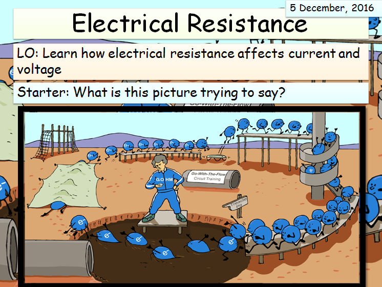 KS3 (Electricity Unit) - Explaining Resistance lesson 1
