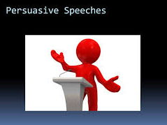 Persuasive Speeches- End of the world and Movie Speeches.