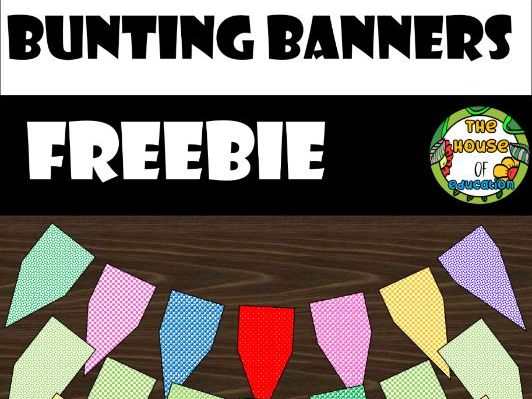 Bunting Banners (The House Of Education Digital Clipart)
