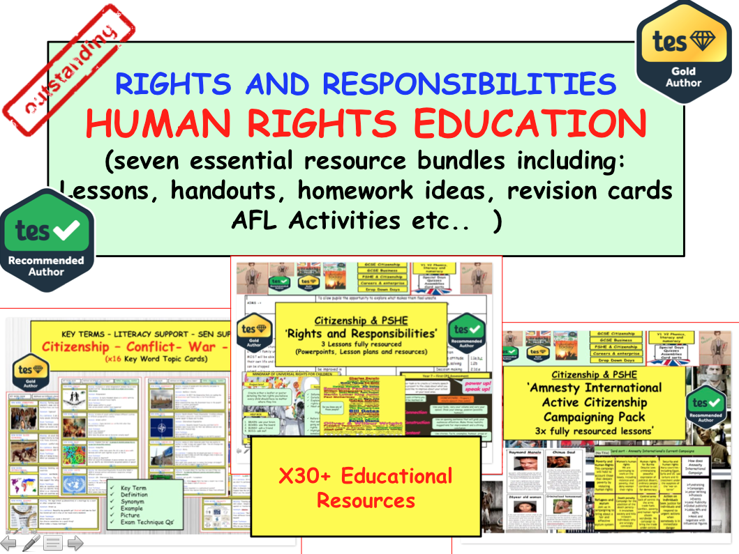 Human Rights and Responsibilities Bundle: In-depth look at Human Rights  Issues and campaigning