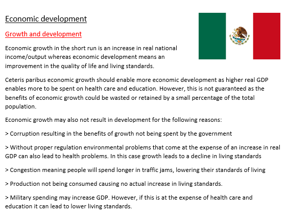 Economic development- Mexico