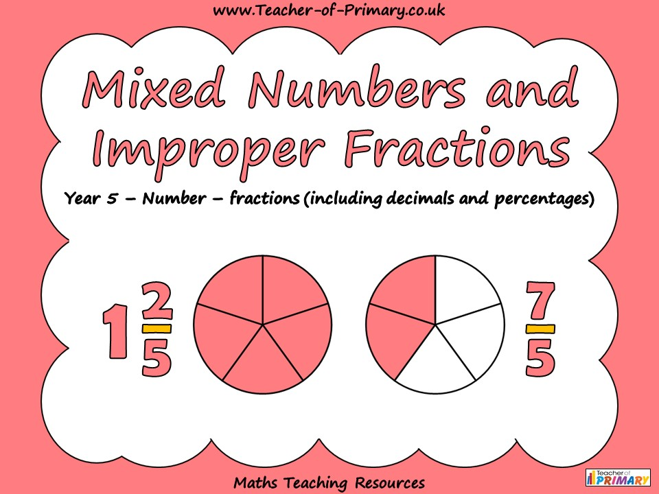 Mixed Numbers and Improper Fractions - Year 5