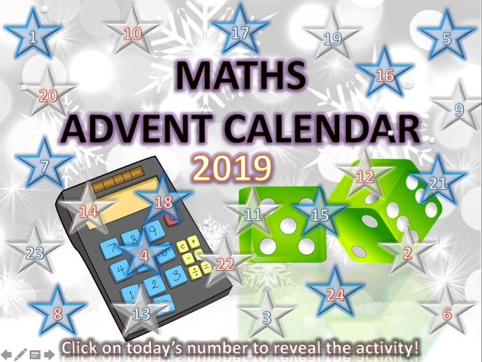 Maths Christmas Quiz Advent Calendar