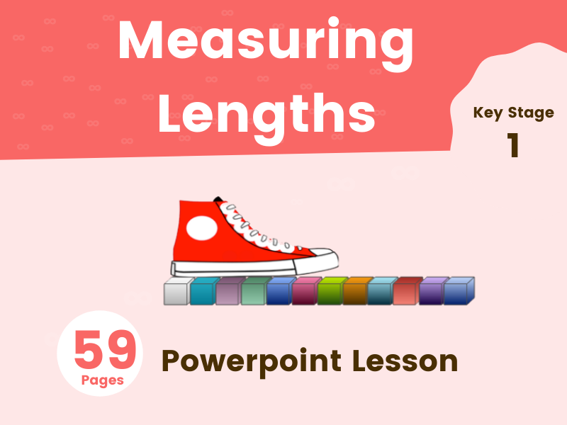 Measuring Lengths - KS1 Powerpoint Lesson. 59 Pages