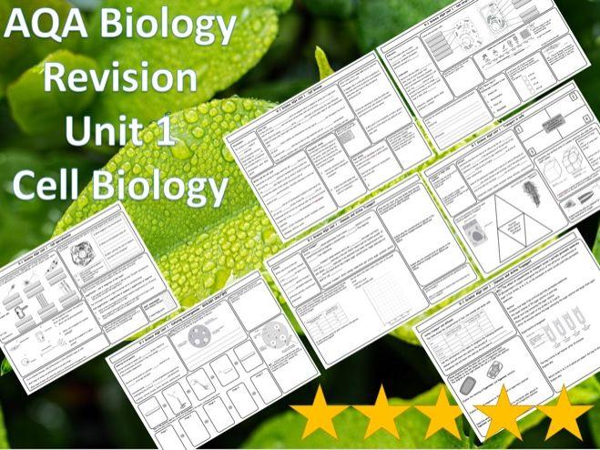 AQA Biology Revision 7 Mats/Grids- Unit 1 Cells, Plant, Animal, Stem, Division Transport & ANSWERS