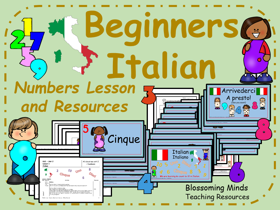 Italian Lesson and Resources: Numbers 1-10