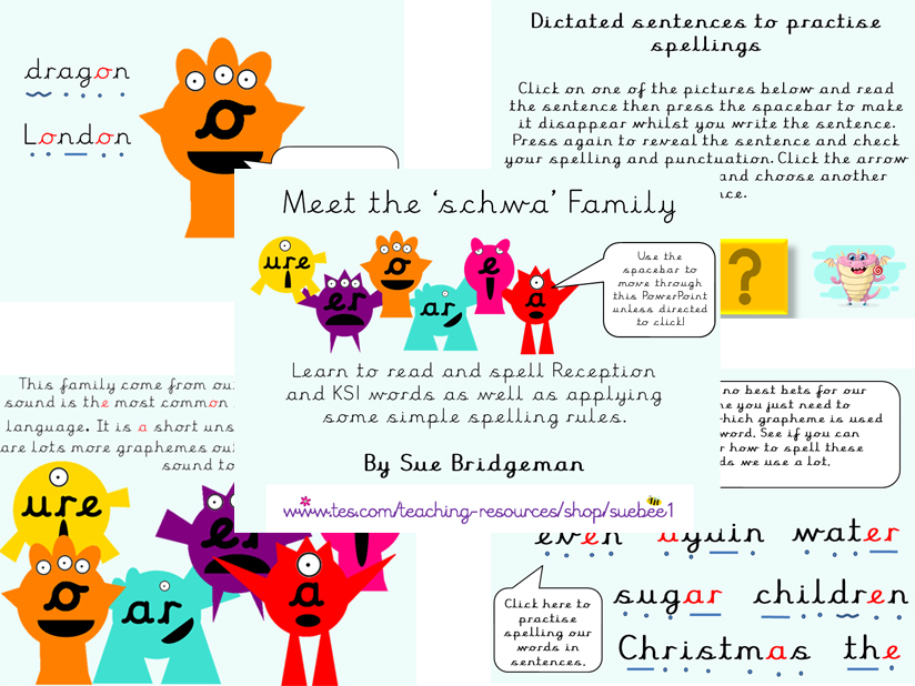 Phoneme Families The Schwa Family KS1 Phonics