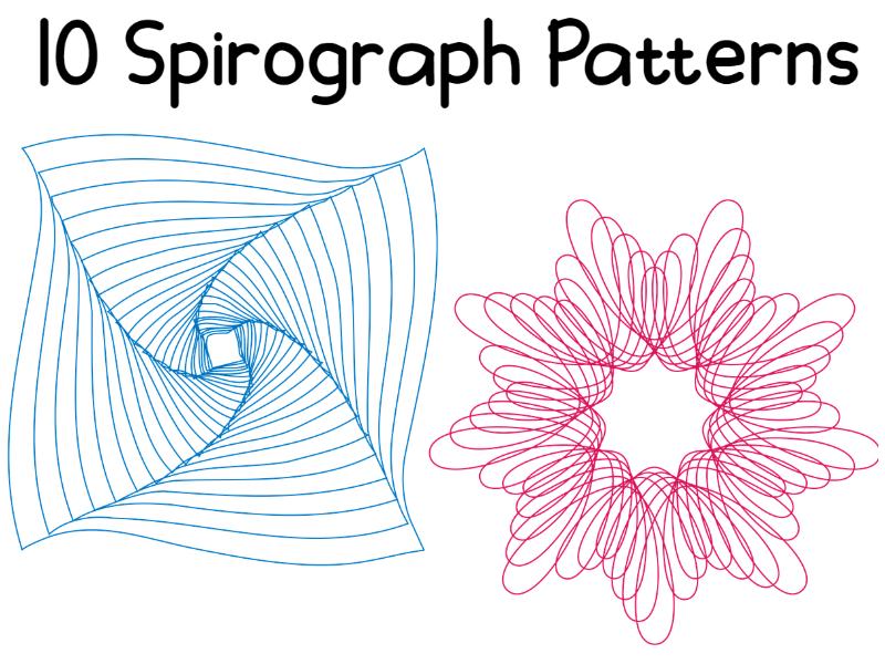 10 Spirograph Colouring Patterns