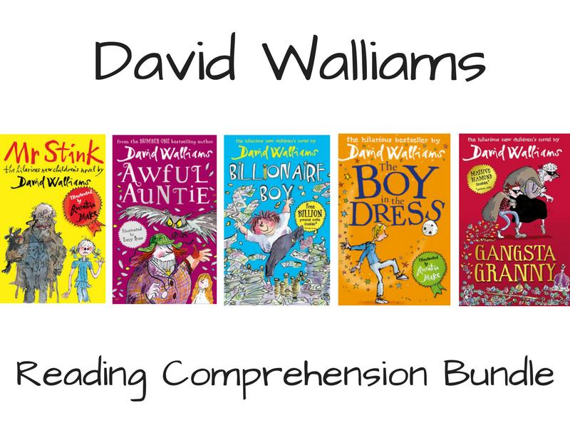 David Walliams Reading Comprehension Bundle