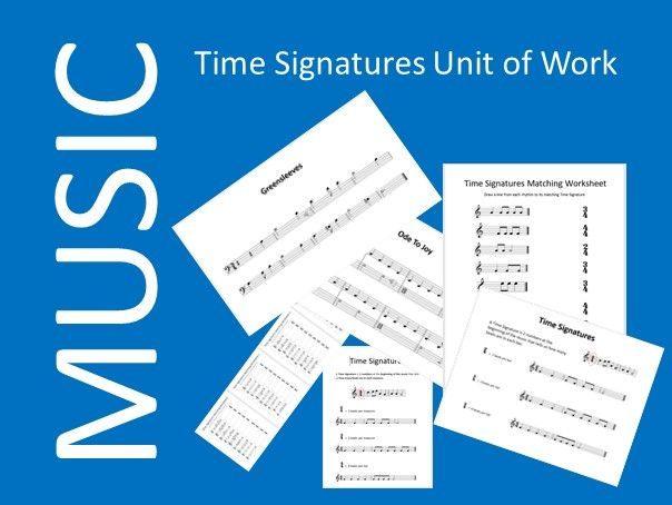 Music Time Signatures Unit of Work including Audio Files - Distance Learning