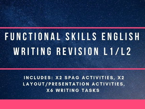 Functional Skills writing revision L1/2