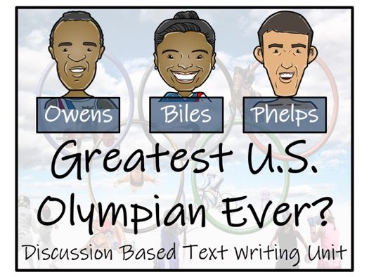 UKS2 Literacy - Who is the Greatest U.S. Olympian of All Time? Discussion Based Writing Unit