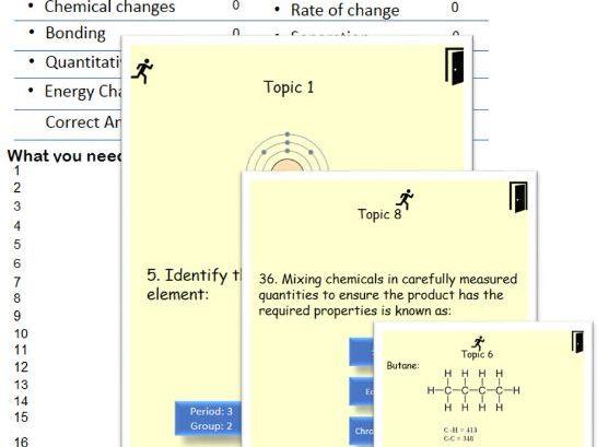 AQA Trilogy Chemistry Assessment          Auto Feedback / Marking