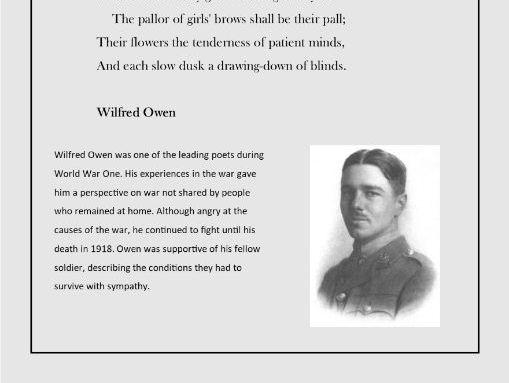 World War One poetry analysis