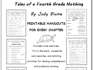 Tales of a Fourth Grade Nothing by Judy Blume - Printable handouts for each chapter