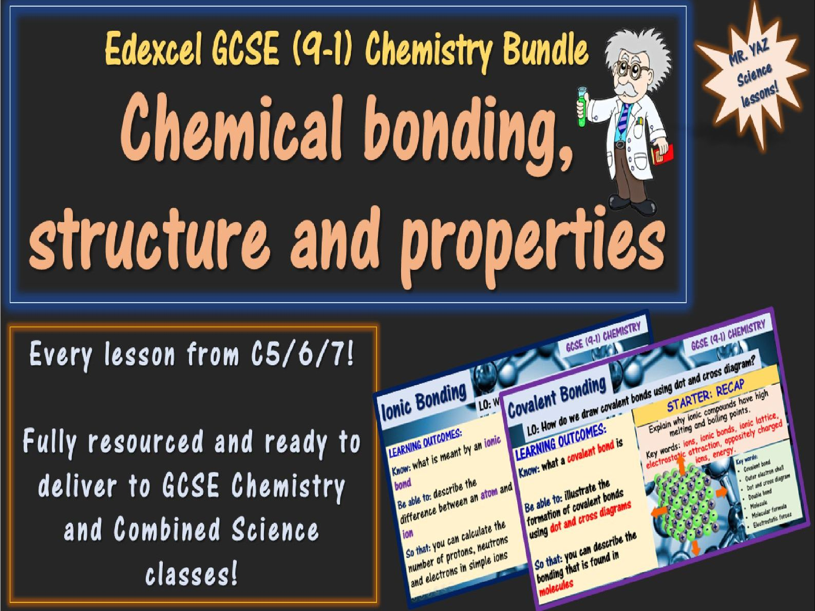 Chemical bonding, structure and properties GCSE Chemistry Bundle