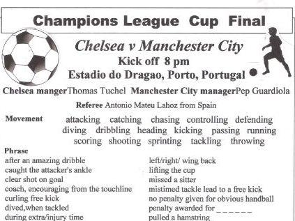Chelsea v Manchester City Champions League Final 2021