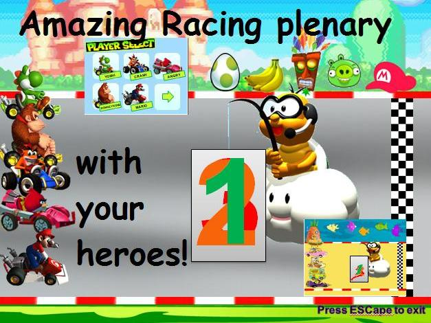 Mario Kart Race Plenary with your favourite heroes!