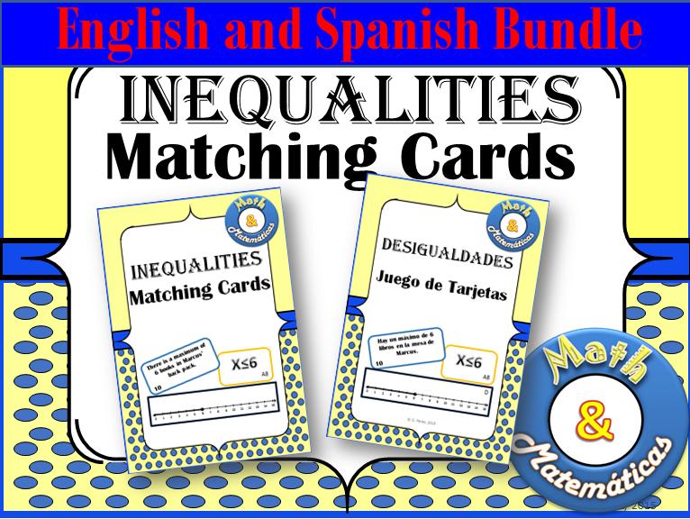 Inequalities Bundle English and Spanish
