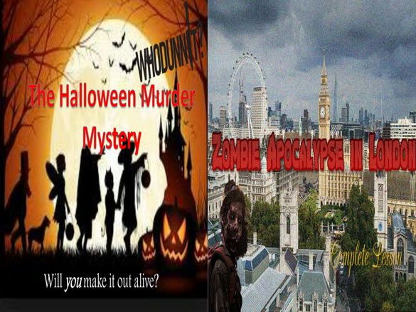 The Halloween Murder Mystery and  Zombie Apocalypse in London (with free starters)