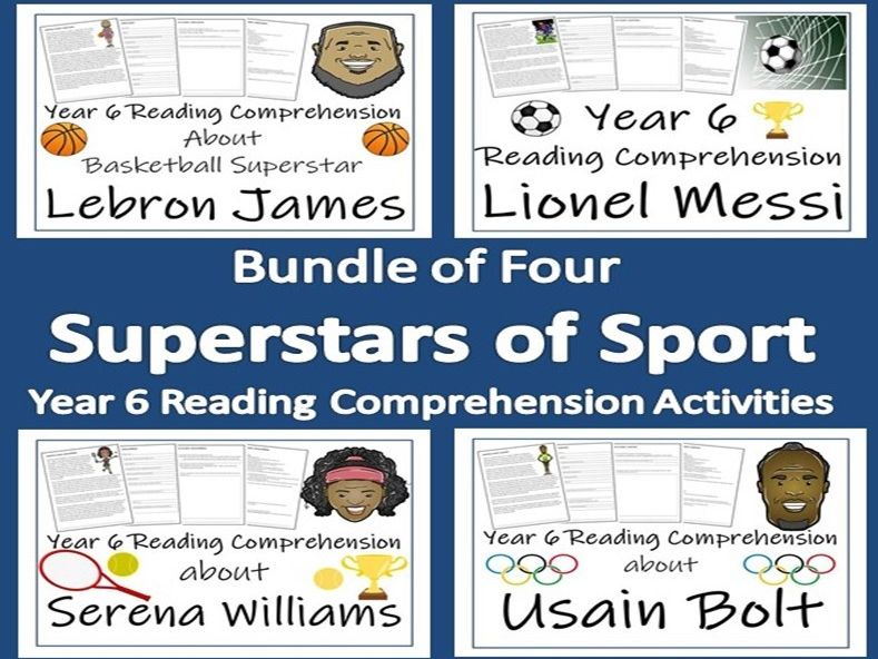 Superstars of Sport Collection of Year 6 Reading Comprehensions