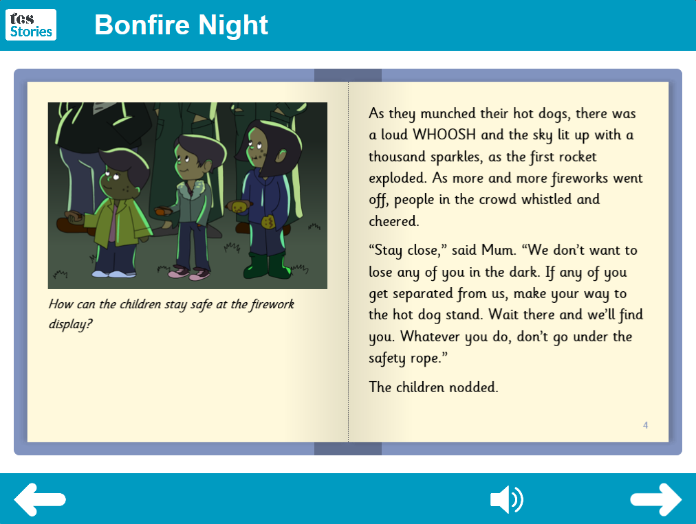 Bonfire Night Interactive Storybook - Independent Reader Level - Bonfire Night KS1