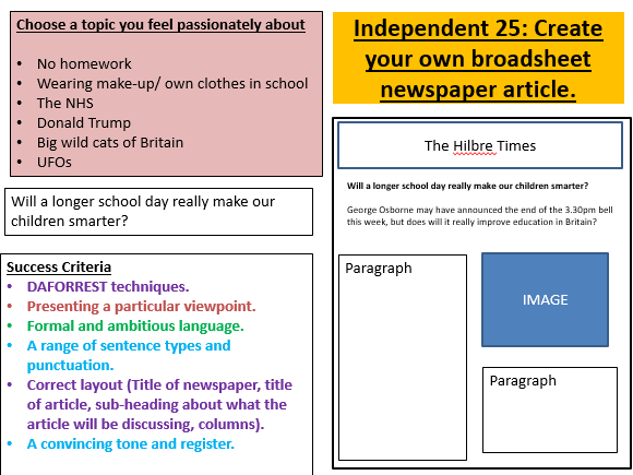 Newspaper Articles By Lhowellpratt Teaching Resources Tes