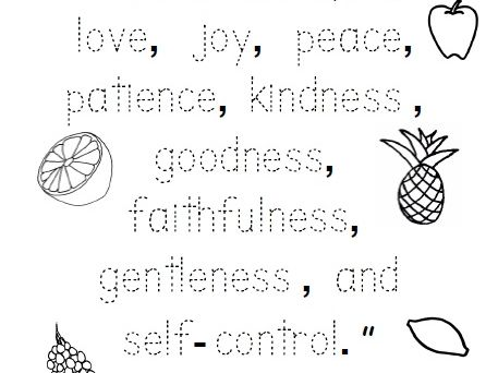 photograph regarding Fruits of the Spirit Printable called Fruit of the Spirit Bible Verse Worksheet - Hint the words and phrases