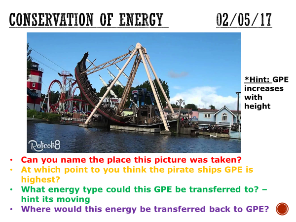 Conservation of energy - complete lesson (KS4)